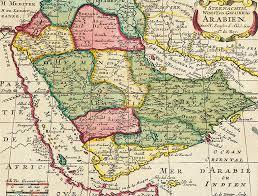 Map Of Oman Antique Maps And Prints Bait Al Zubair