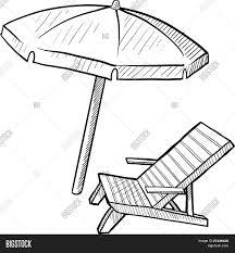 Beach Lounge Chair Umbrella Beach Chair Drawing Sadgururocks Com