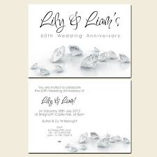 60th anniversary invitations 60th wedding anniversary invitations diamonds diamond
