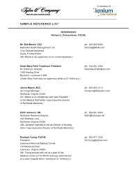 how to format resume reference page format resume with references sles template