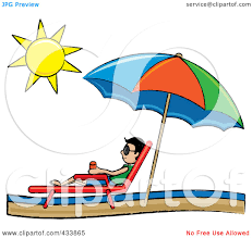 Lounge Chair Umbrella Clipart Beach Lounge Chairs Under A Straw Umbrella Facing Towards