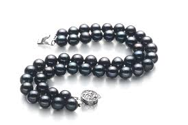 double pearl bracelet images Real black freshwater pearl bracelet for sale buy online at jpg
