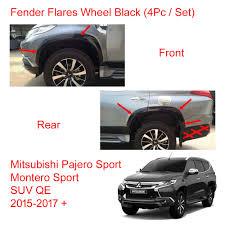 mitsubishi suv 2015 black for mitsubishi pajero montero sport fender flares wheel set black