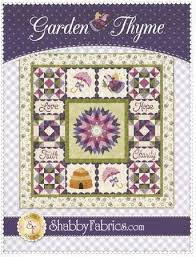 thyme block of the mon quilt pattern set from shabby fabrics