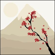 Japanese Flower Artwork - free photo landscape japanese flowers blossoms art floral max pixel