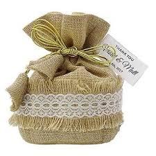 burlap favor bags wedding burlap favor bag potli bags with personalized tags party