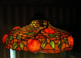 groncrin high quality waterlily stained glasslamp shade