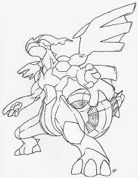 Zekrom Line Art by neodragonarts  LineArt Pokemon Detailed