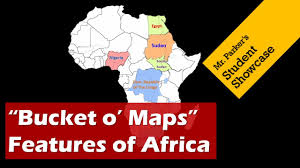 Physical Features Map Of Africa by Political And Physical Maps Of Africa Bucket O Maps Youtube