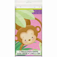 monkey baby shower plastic tablecloth baby shower supplies