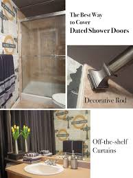 the best way to cover dated shower doors maria killam the true