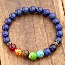 bracelet with beads images 7 chakra healing balance bracelet with lapis lazuli stone beads jpg