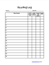great reading logs for homework that relate to the common