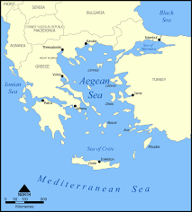 Ithaca Map Aegean Sea
