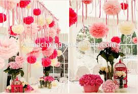 tissue paper pom poms wedding baby shower decoration with low