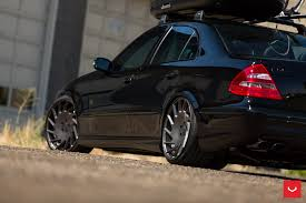 vossen wheels photo gallery all black mercedes e55 amg rides on vossen wheels carries a