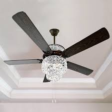 5 blade ceiling fan with light ceiling fans with crystals modern river of goods 52 punched metal