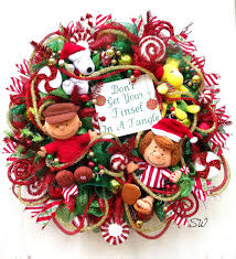 Charlie Brown Christmas Tree Red Ornament by Christmas Wreath Whimsical Wreath Charlie Brown By Seasonalwreaths