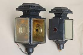 antique carriage lights early automobile lamps converted to 1930s
