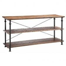 wood and metal sofa table iron wood console table foter