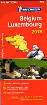 National Map 716 Michelin National Map Belgium U0026 Luxembourg 2018 Belgium Maps