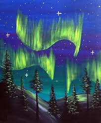 how to paint northern lights ward johnson winery 01 26 2016 paint nite event