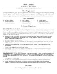 Resume For A Marketing Job by Marketing Specialist Resume Berathen Com