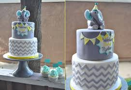 chevron and polka dot baby shower thebakeboutique