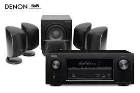 bowers and wilkins home theater bowers u0026 wilkins mt 50 5 1 mini system and denon avr x2100w 7 2