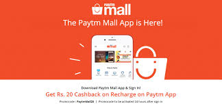 mall app paytm mall offer get rs 20 cashback on recharge of rs 50 or more