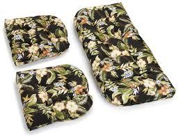 Cushion Settee Amazon Com Blazing Needles Indoor Outdoor Spun Poly All Weather