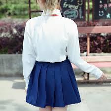 Seragam Sekolah Lengan Panjang bloomlove new fashion sekolah lengan panjang kemeja rok seragam