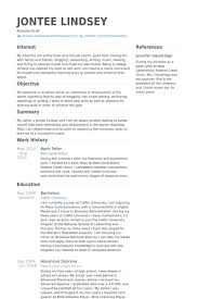 Sample Resume For Bank Teller With No Experience by Teller Resume Haadyaooverbayresort Com