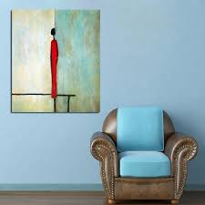 Single Man Home Decor Aliexpress Com Buy Handpainted Abstract Single Man Figure Oil
