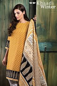 khaadi winter prints of dresses 2015 2016 collection