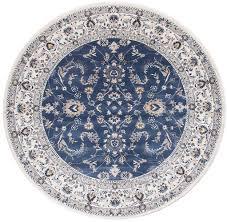 aisha oriental rug round blue white u2013 millhouse lane homewares