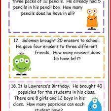 4th grade math word problems worksheets kristal project edu