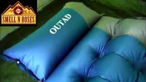 outad self inflating air mattress with pillow real review 5 youtube