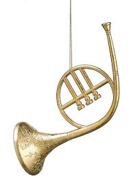 christmas trees floral u0026 decor french horn 8 in gold