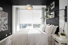 chambre a coucher gris et murs et ameublement chambre tout en gris tendance