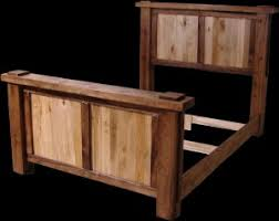 bed frame rustic wood bed frame bed frames