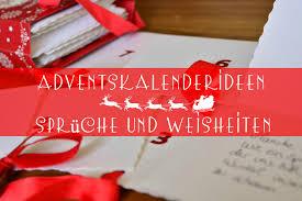 kalendersprüche monat adventskalenderideen 4 sprüche und weisheiten