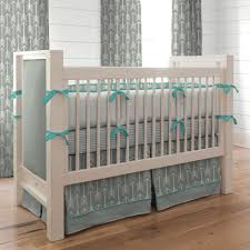 Nursery Bedding And Curtains Teal Baby Bedding Cool In Sumer All Modern Home Designs