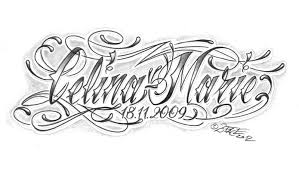 chicano lettering name tattoo design in 2017 real photo pictures