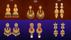 gold earrings collection grt jewellers