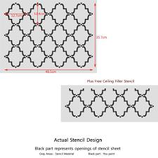 j boutique stencils moroccan trellis pattern allover wall stencil