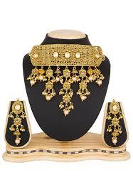 necklace set images images Stone studded choker necklace set jpm3132 jpg