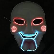 Saw Mask Led Saw Jigsaw Mask Puppet Billy Horror Fancy Dress Party