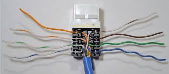how to install an ethernet jack for a home network and wall socket