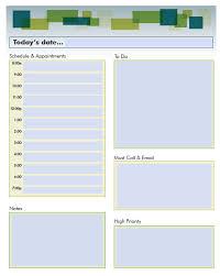 Planning Agenda Template Fillable Daily Planning Calendar Calendar Template 2017